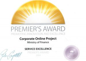 Premier's Award Service Excellence